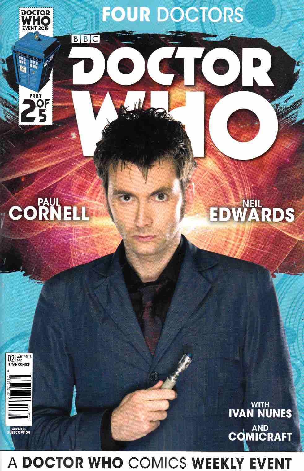 Doctor Who 2015 Four Doctors #2 Subscription Photo Cover [Titan Comic] LARGE