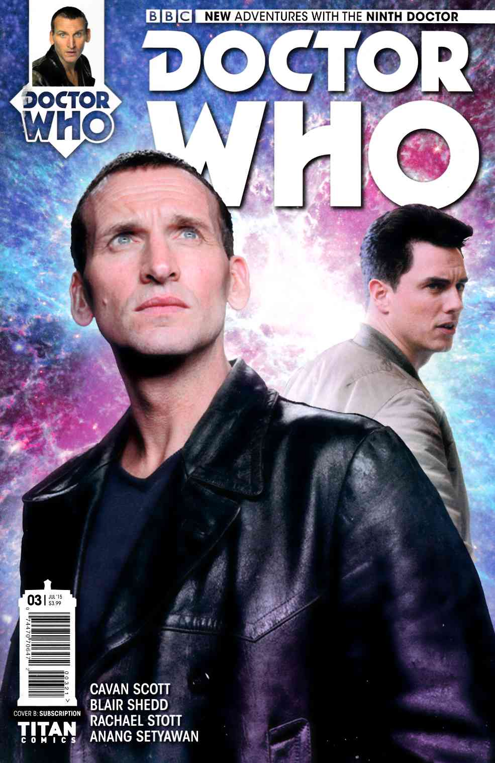 Doctor Who 9th Doctor #3 Subscription Cover [Titan Comic] THUMBNAIL