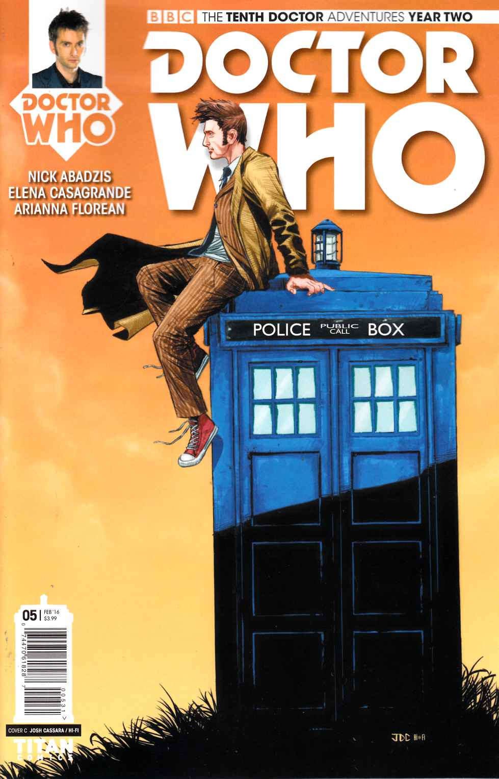 Doctor Who 10th Doctor Year 2 #5 Cassara Variant Cover [Titan Comic] LARGE