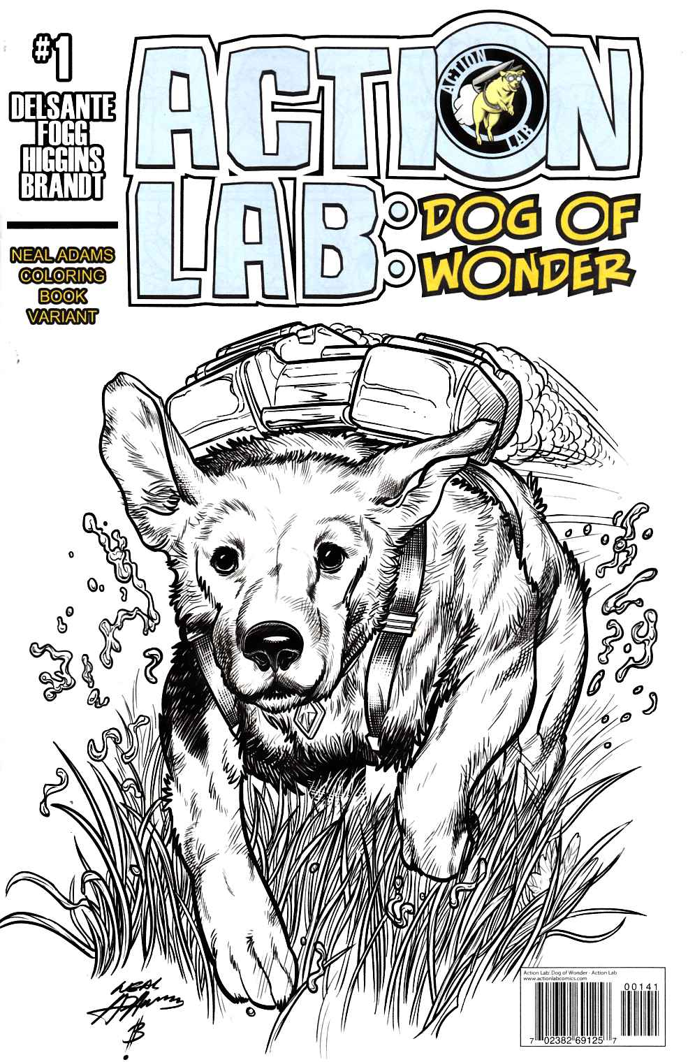 Action Lab Dog of Wonder #1 Cover C- Coloring Book Neal Adams [Action Lab Comic] THUMBNAIL