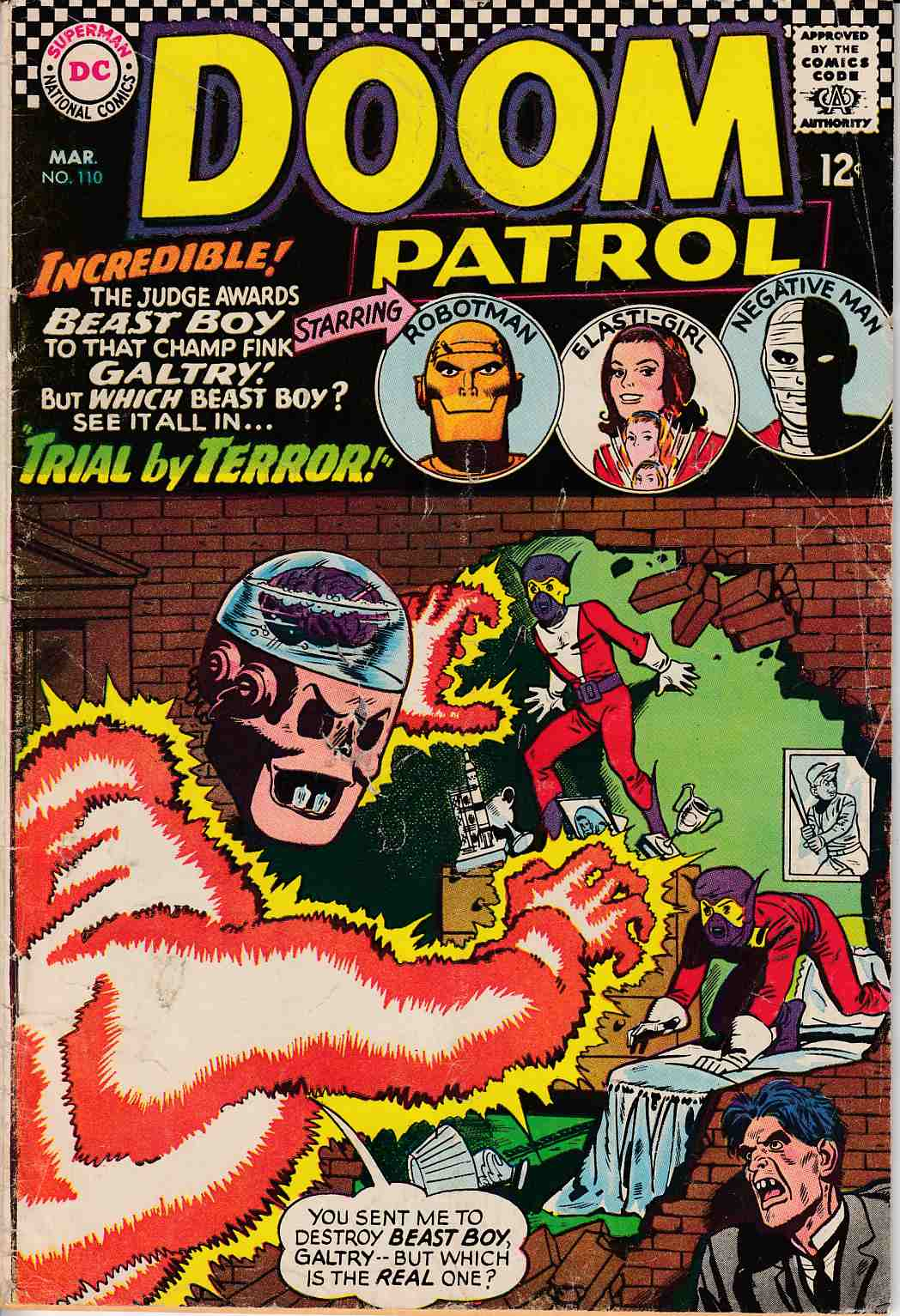 Doom Patrol #110 Good Minus (1.8) [DC Comic] LARGE