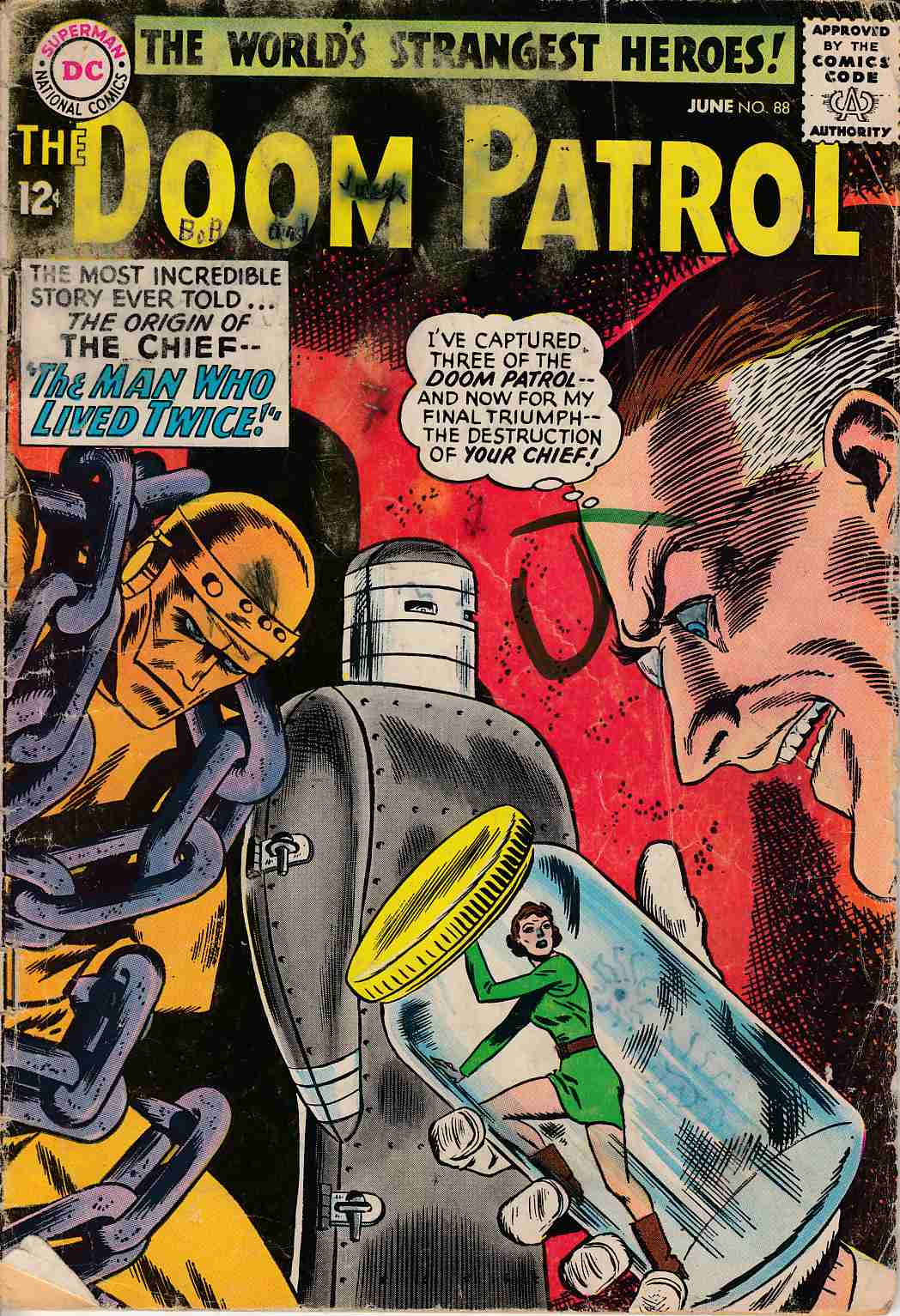 Doom Patrol 88 Fair 1 0 Dc Comic Dreamlandcomics Com Online