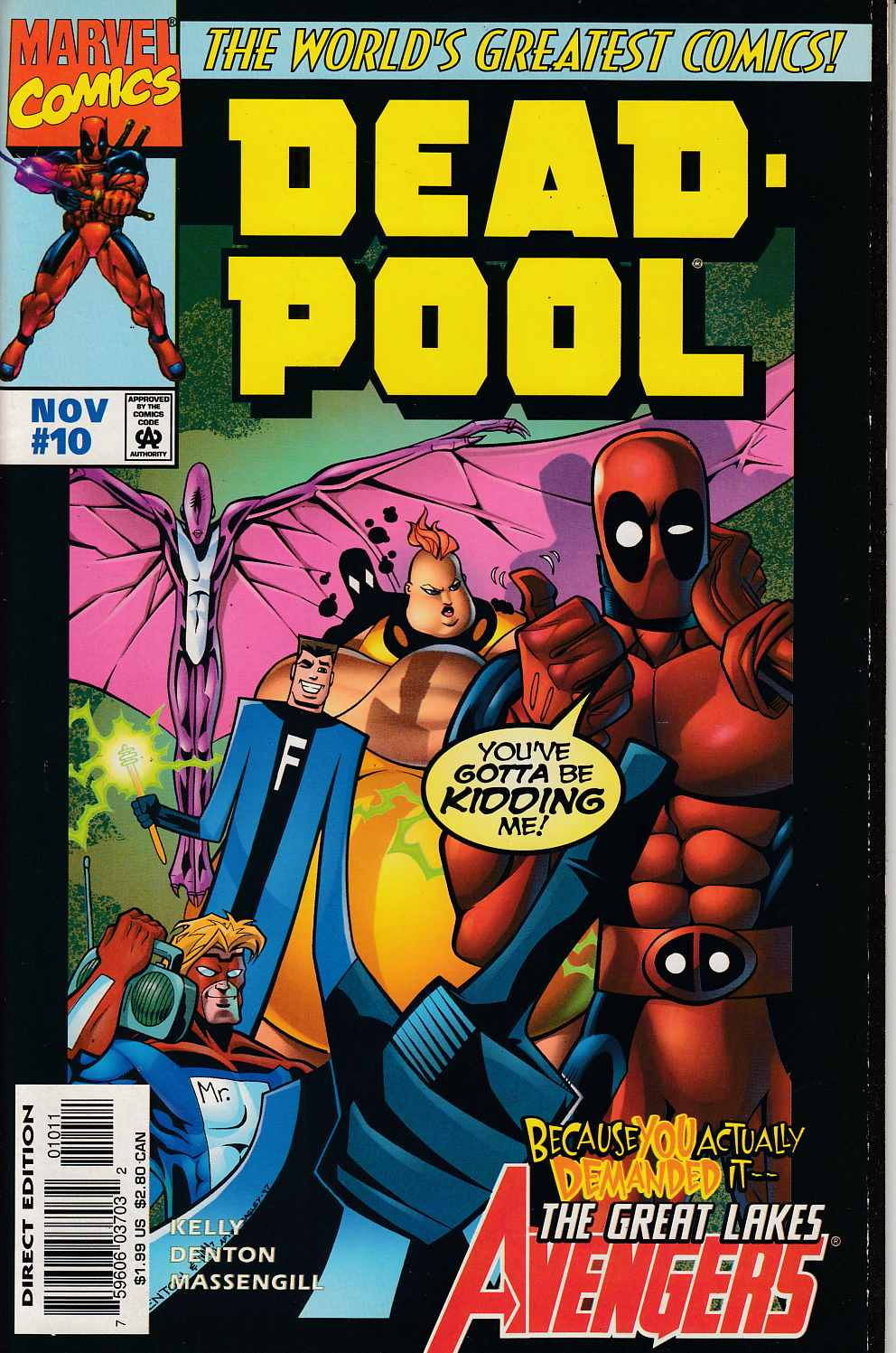 Deadpool #10 Near Mint (9.4) [Marvel Comic] THUMBNAIL