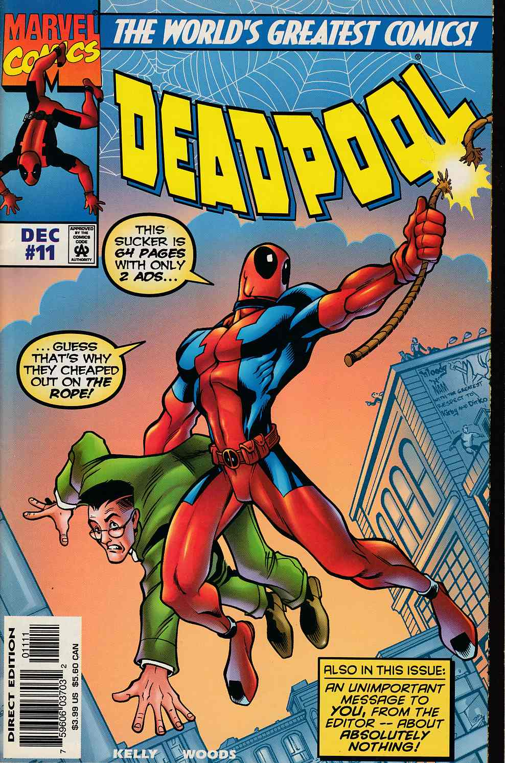 Deadpool #11 Very Fine (8.0) [Marvel Comic] THUMBNAIL