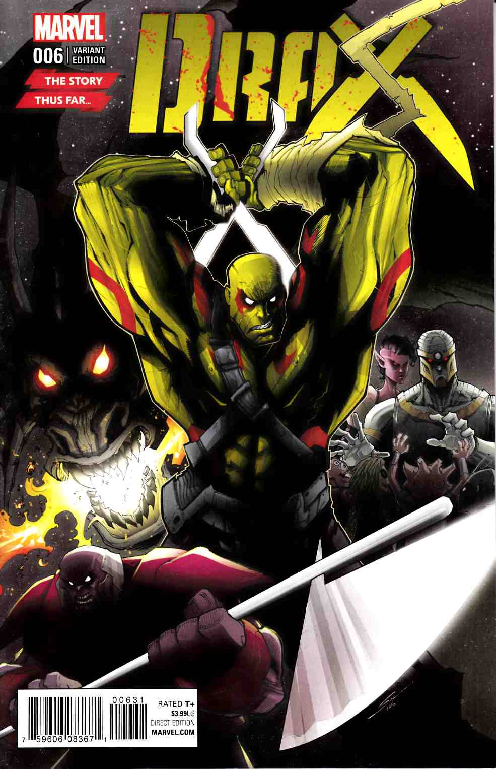 Drax #6 Story Thus Far Variant Cover [Marvel Comic] LARGE