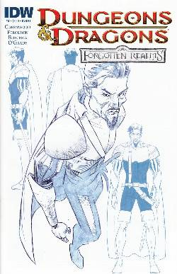 Dungeons & Dragons Forgotten Realms #4 Cover RI- Character Design [Comic] LARGE