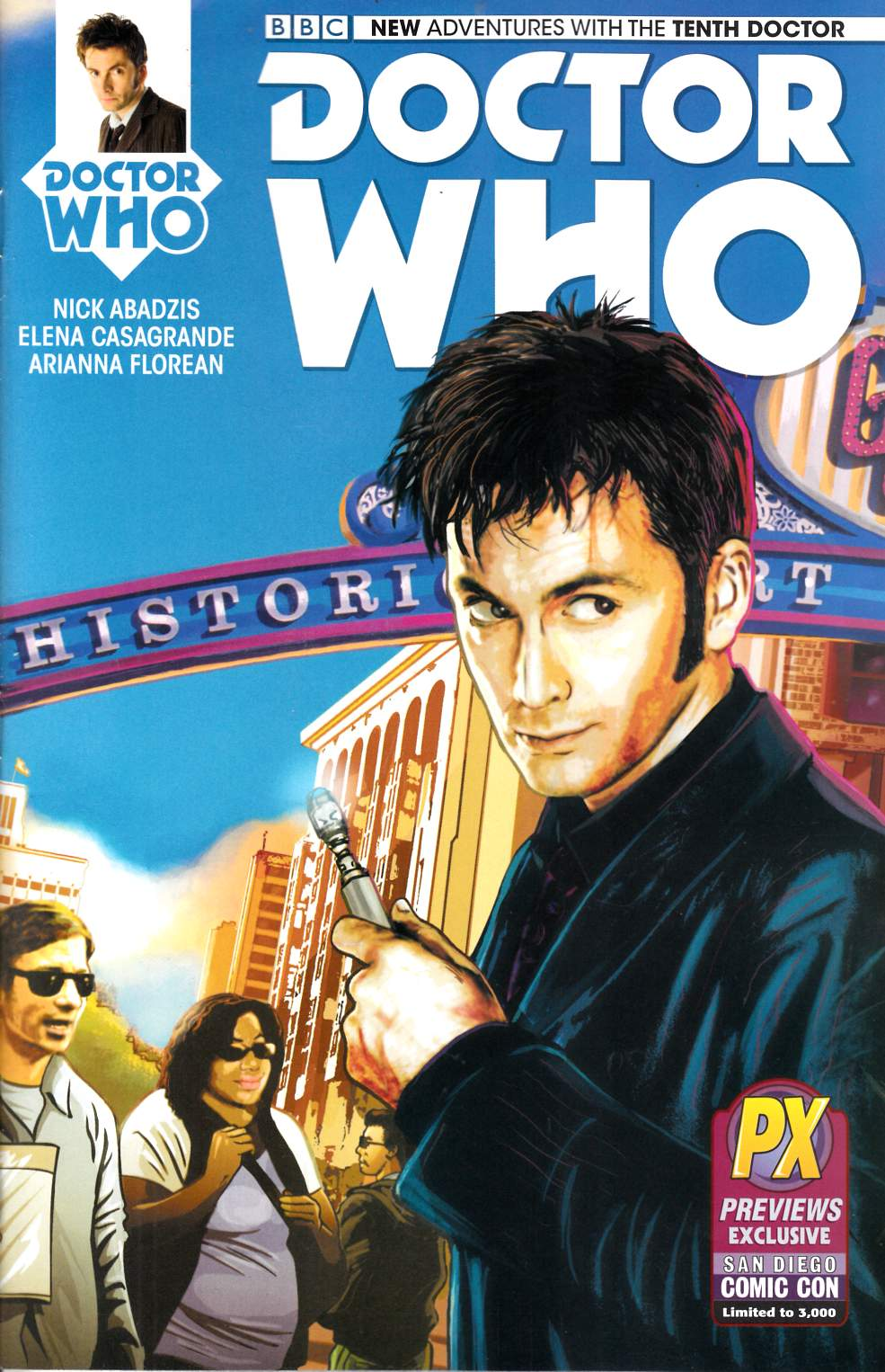 Doctor Who 10th Doctor #1 SDCC 2014 Exclusive Cover [Comic]