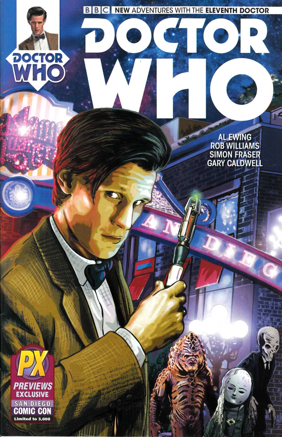 Doctor Who 11th Doctor #1 SDCC 2014 Exclusive Cover [Comic] LARGE