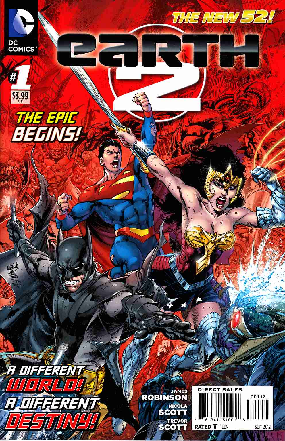 Earth 2 #1 Second Printing [DC Comic] THUMBNAIL