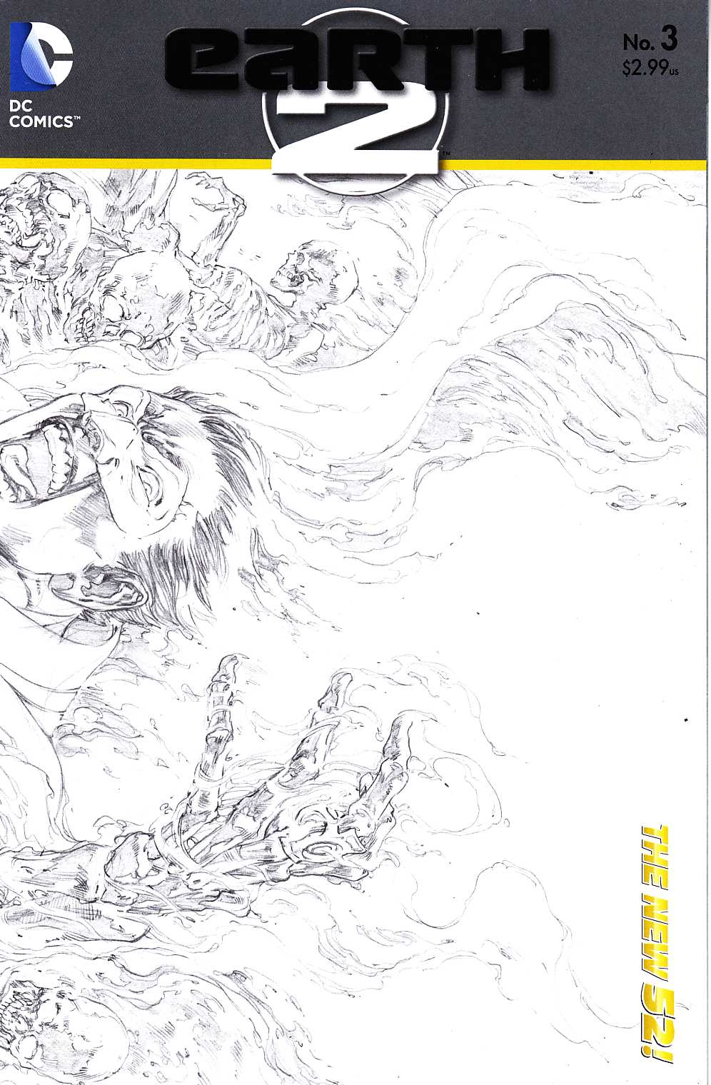 Earth 2 #3 Reis B&W Variant Cover [DC Comic] THUMBNAIL