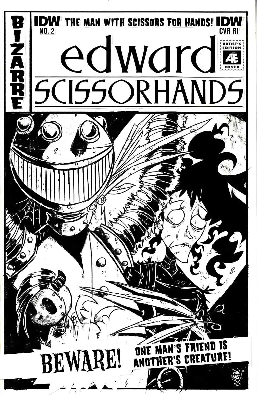 Edward Scissorhands #2 Cover RI [IDW Comic]
