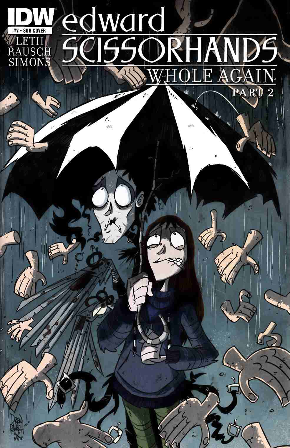 Edward Scissorhands #7 Subscription Cover [IDW Comic] THUMBNAIL