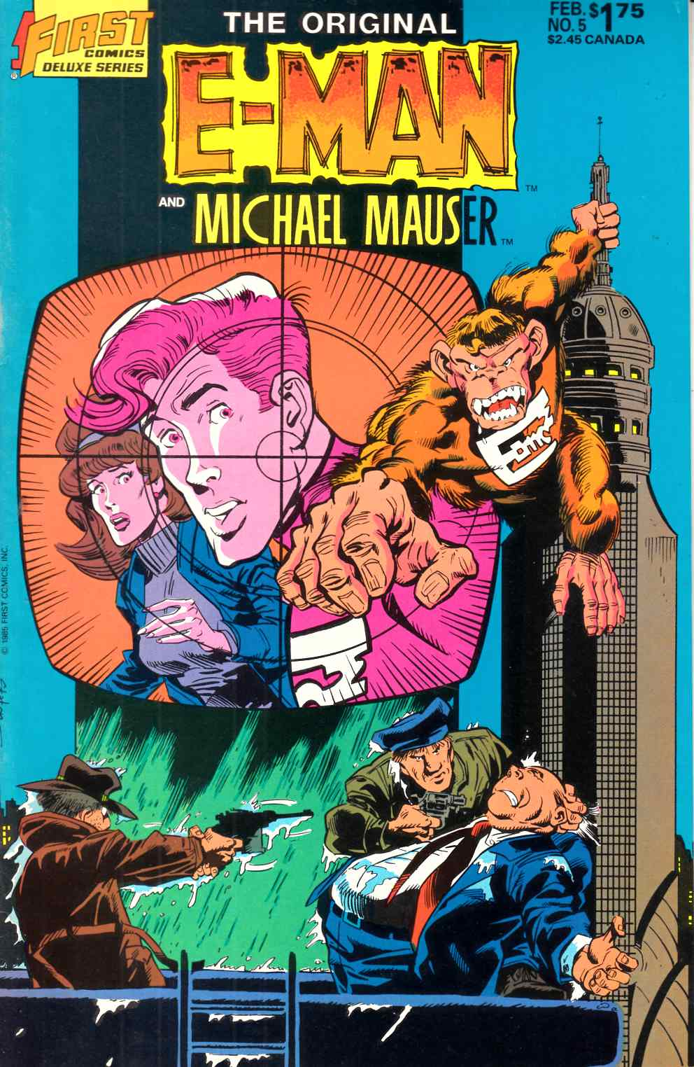 Original E-Man and Michael Mauser #5 Very Fine (8.0) [First Comic] THUMBNAIL
