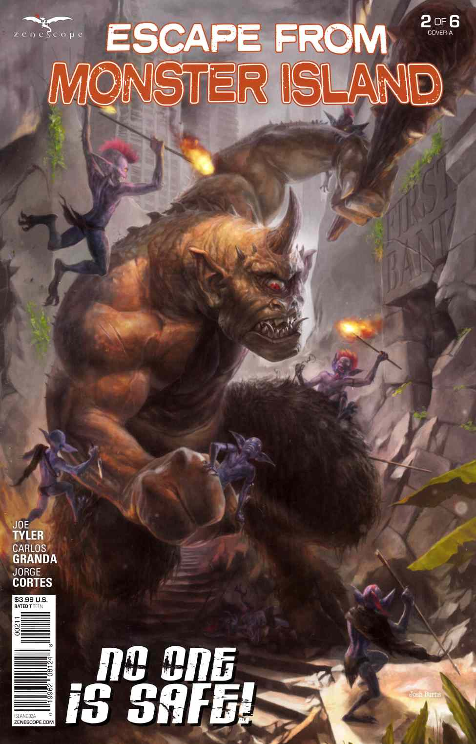 GFT Escape from Monster Island #2 Cover A- Burns [Zenescope Comic] THUMBNAIL