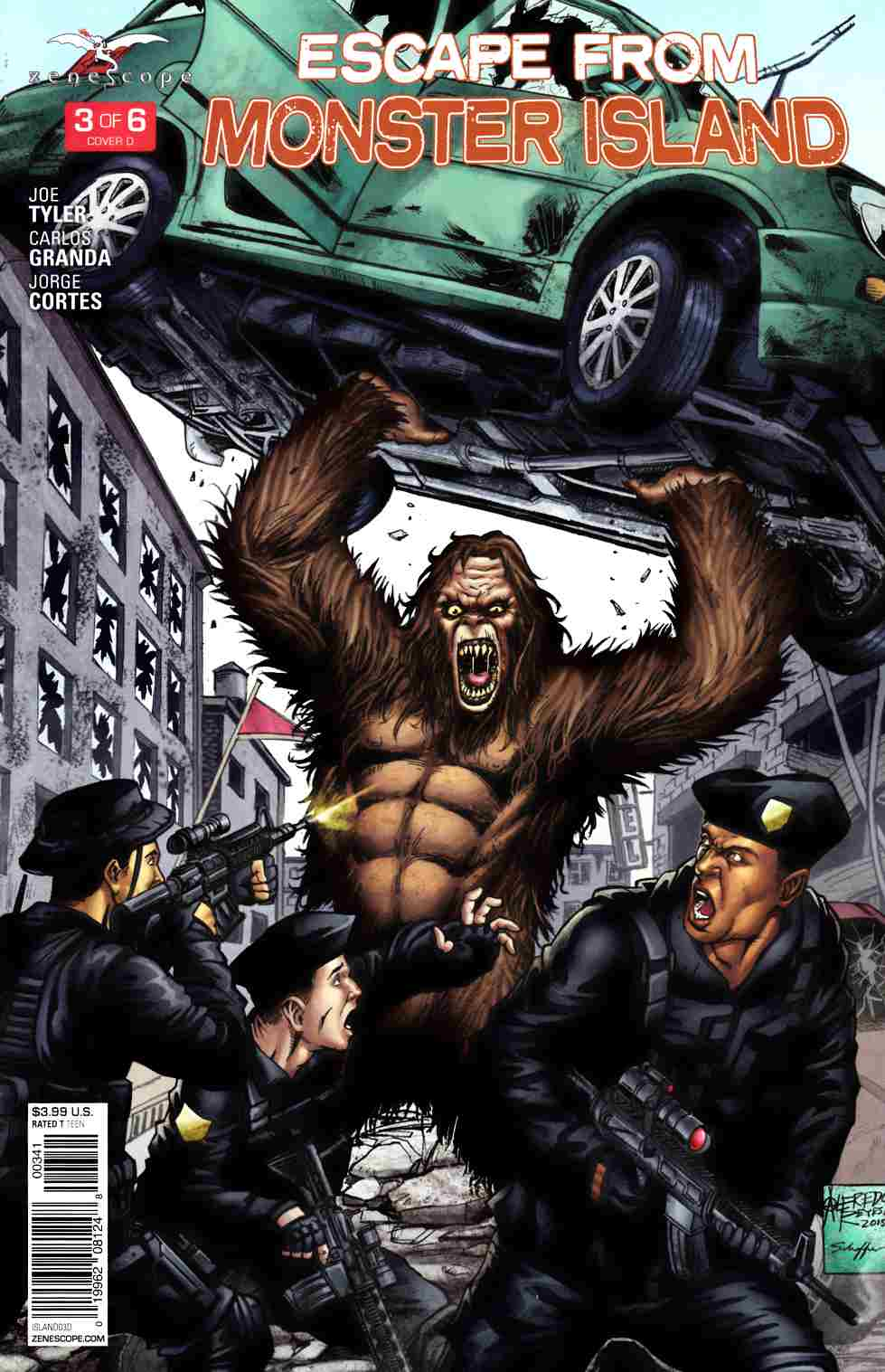GFT Escape From Monster Island #3 Cover D [Zenescope Comic] THUMBNAIL
