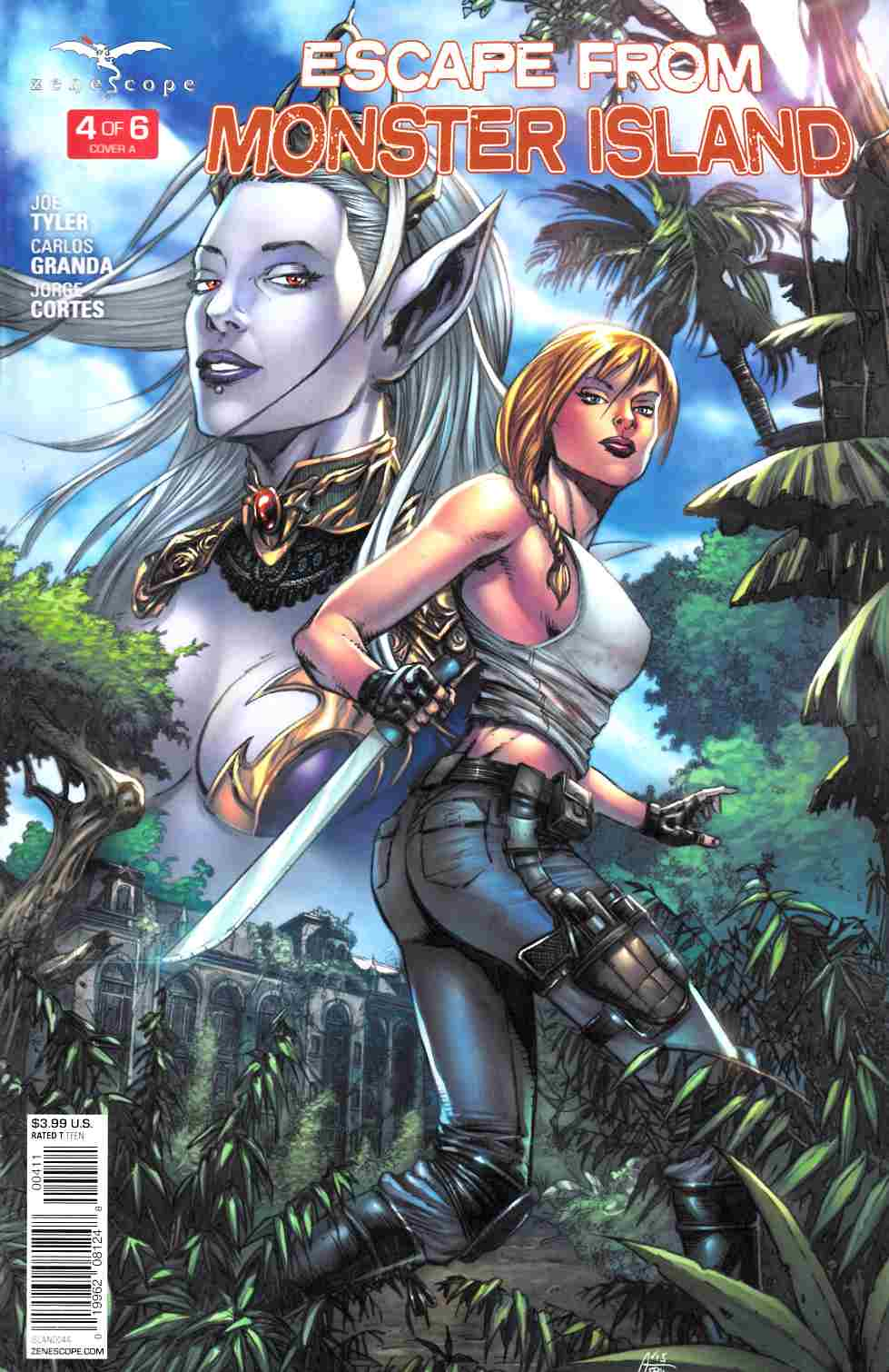 GFT Escape from Monster Island #4 Cover A [Zenescope Comic] THUMBNAIL