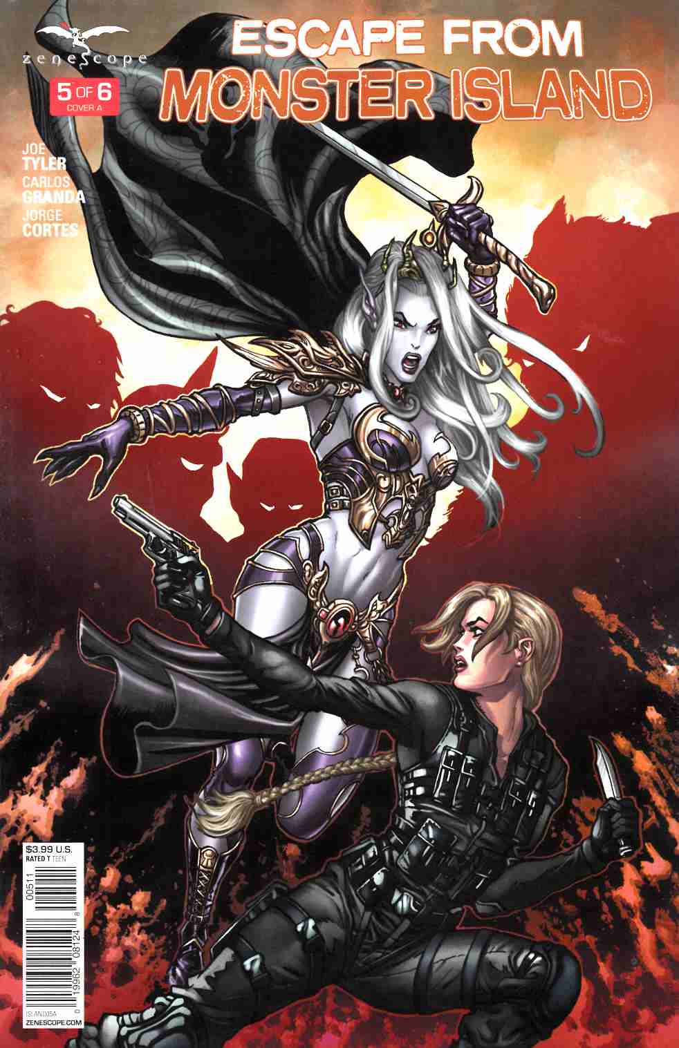 GFT Escape From Monster Island #5 Cover A [Zenescope Comic] THUMBNAIL