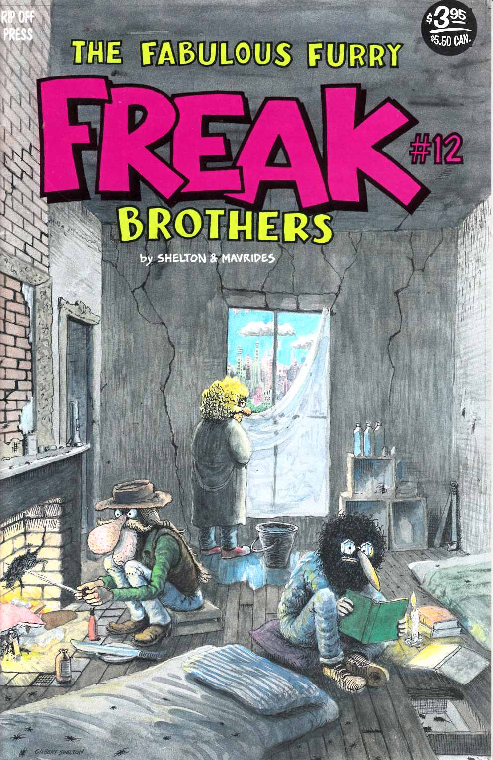 Fabulous Furry Freak Brothers #12 3rd Printing Fine (6.0) [Rip Off Press Comic] LARGE