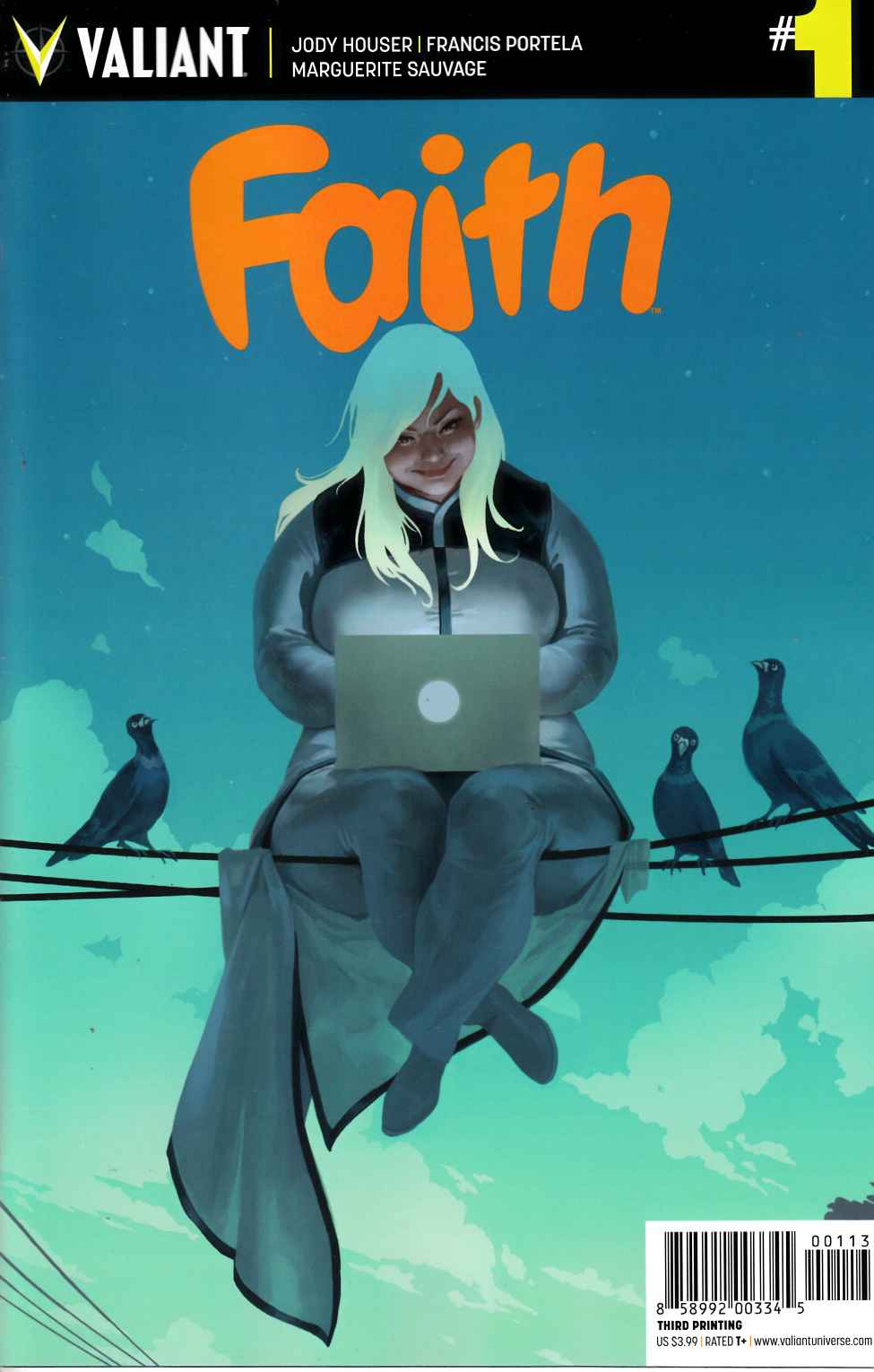 Faith #1 Third Printing [Valiant Comic] THUMBNAIL