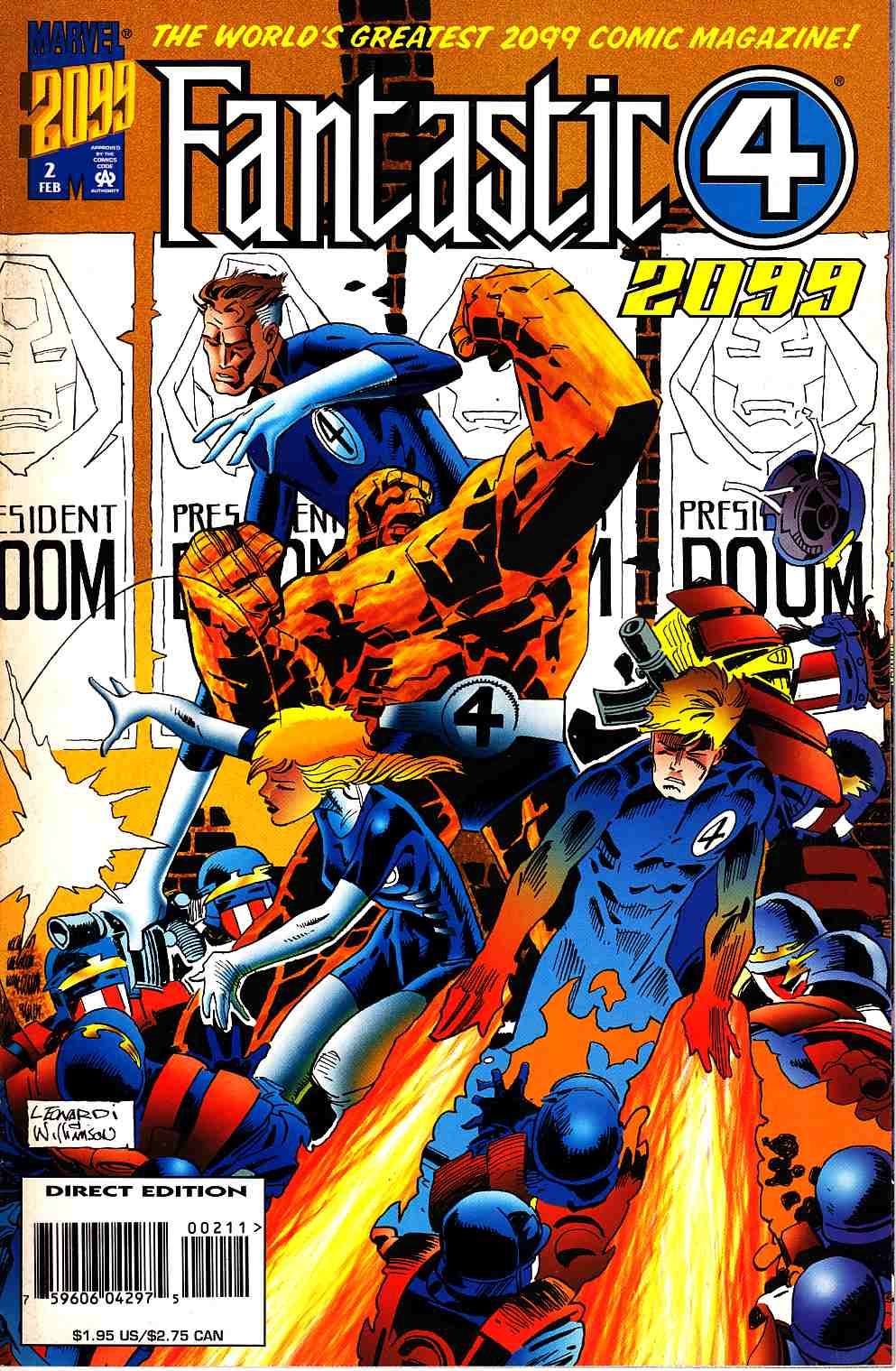 Fantastic Four 2099 #2 Near Mint (9.4) [Marvel Comic] THUMBNAIL