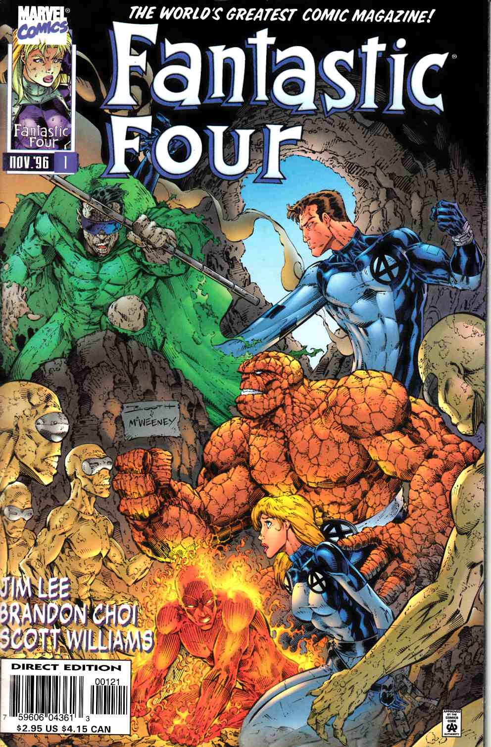 Fantastic Four #1 Cover B Very Fine (8.0) [Marvel Comic] THUMBNAIL