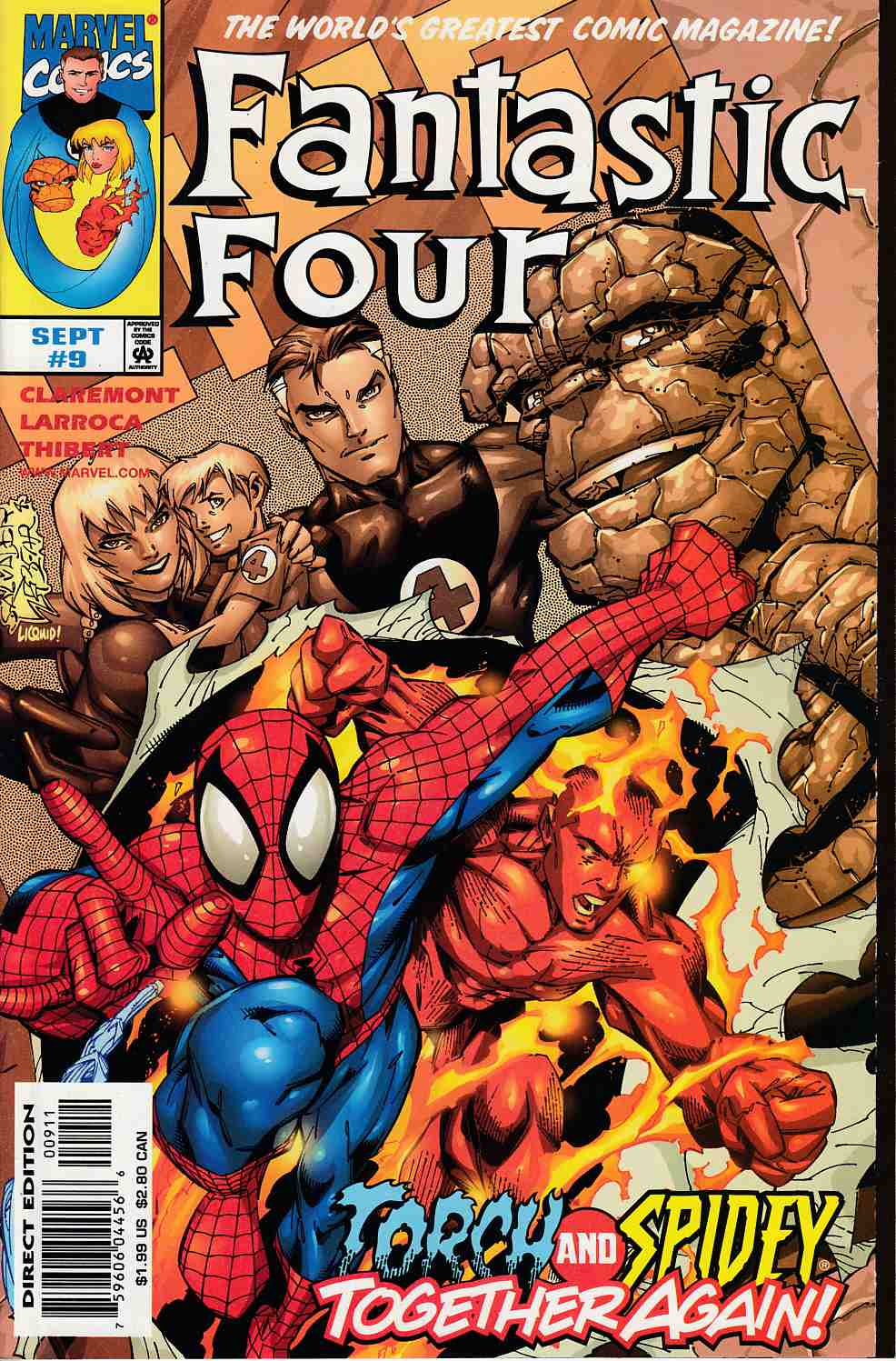 Fantastic Four #9 Near Mint (9.4) [Marvel Comic]_THUMBNAIL
