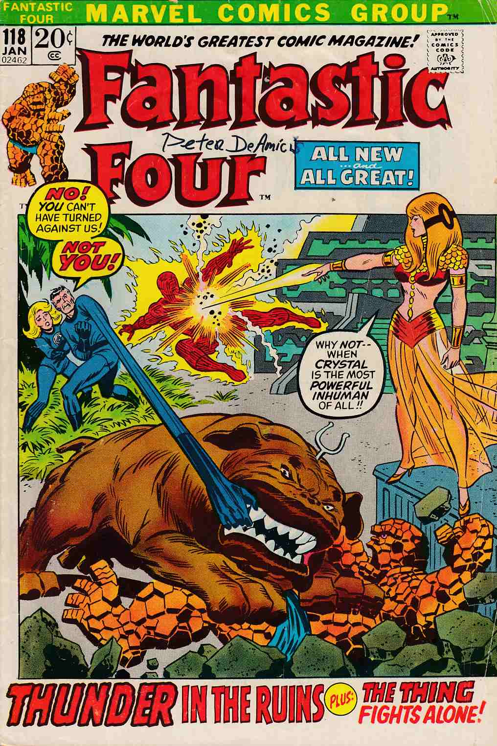 Fantastic Four #118 Good Plus (2.5) [Marvel Comic] LARGE