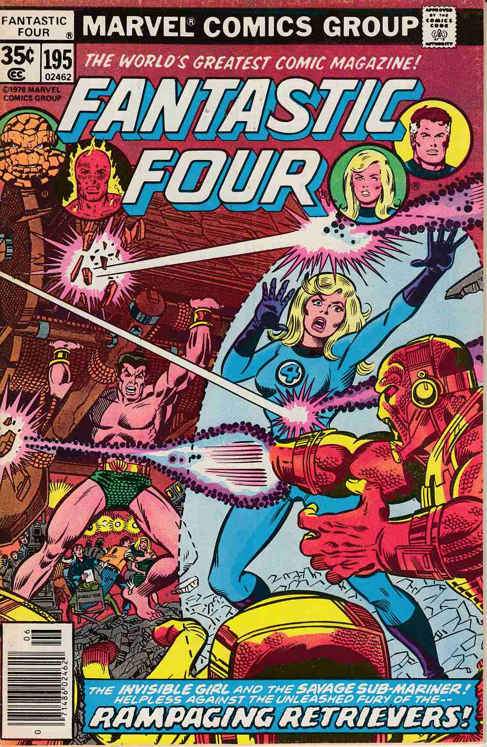 Fantastic Four #195 Fine Minus (5.5) [Marvel Comic] LARGE