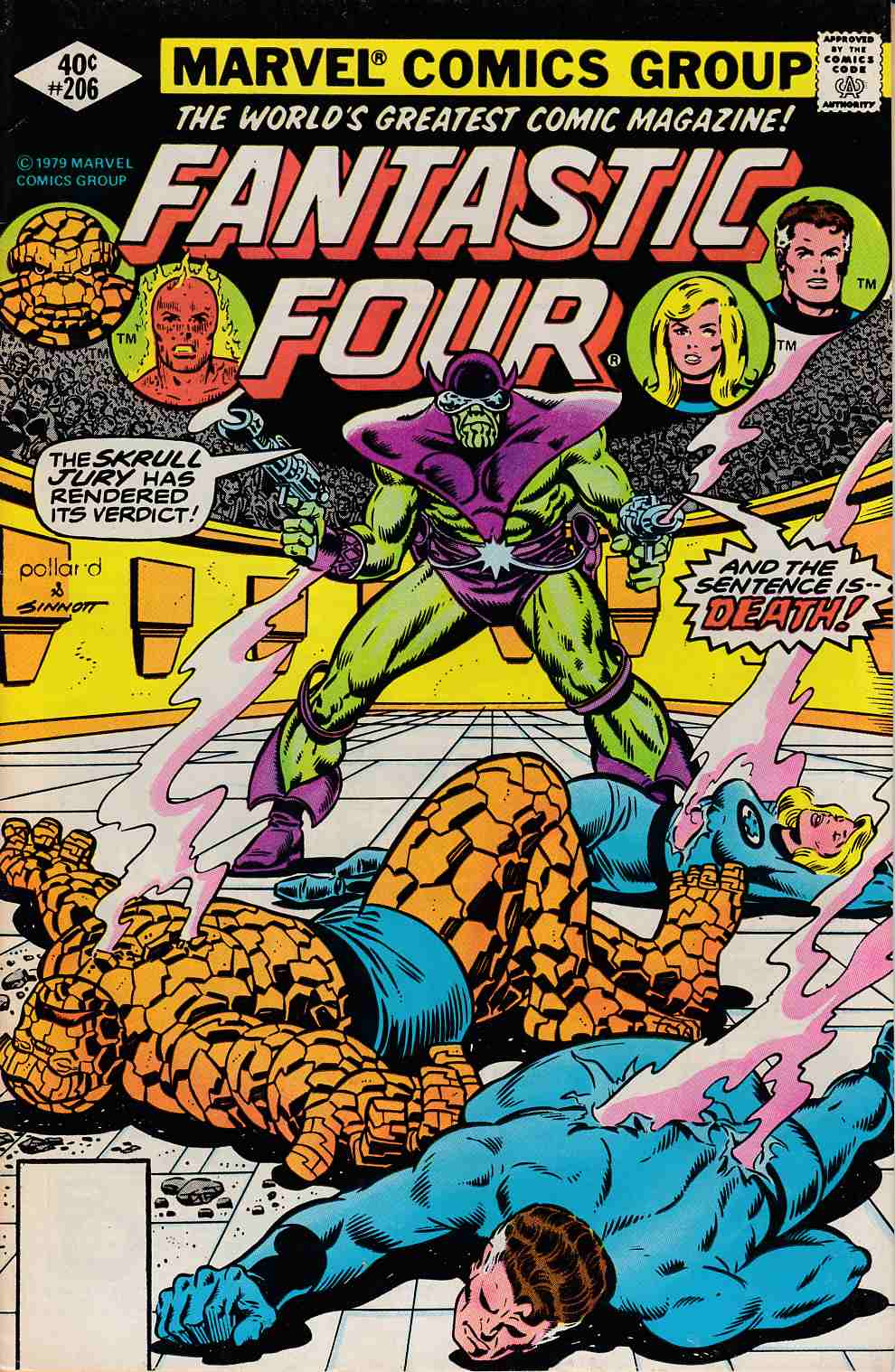 Fantastic Four #206 Whitman Edition Fine Plus (6.5) [Marvel Comic] LARGE