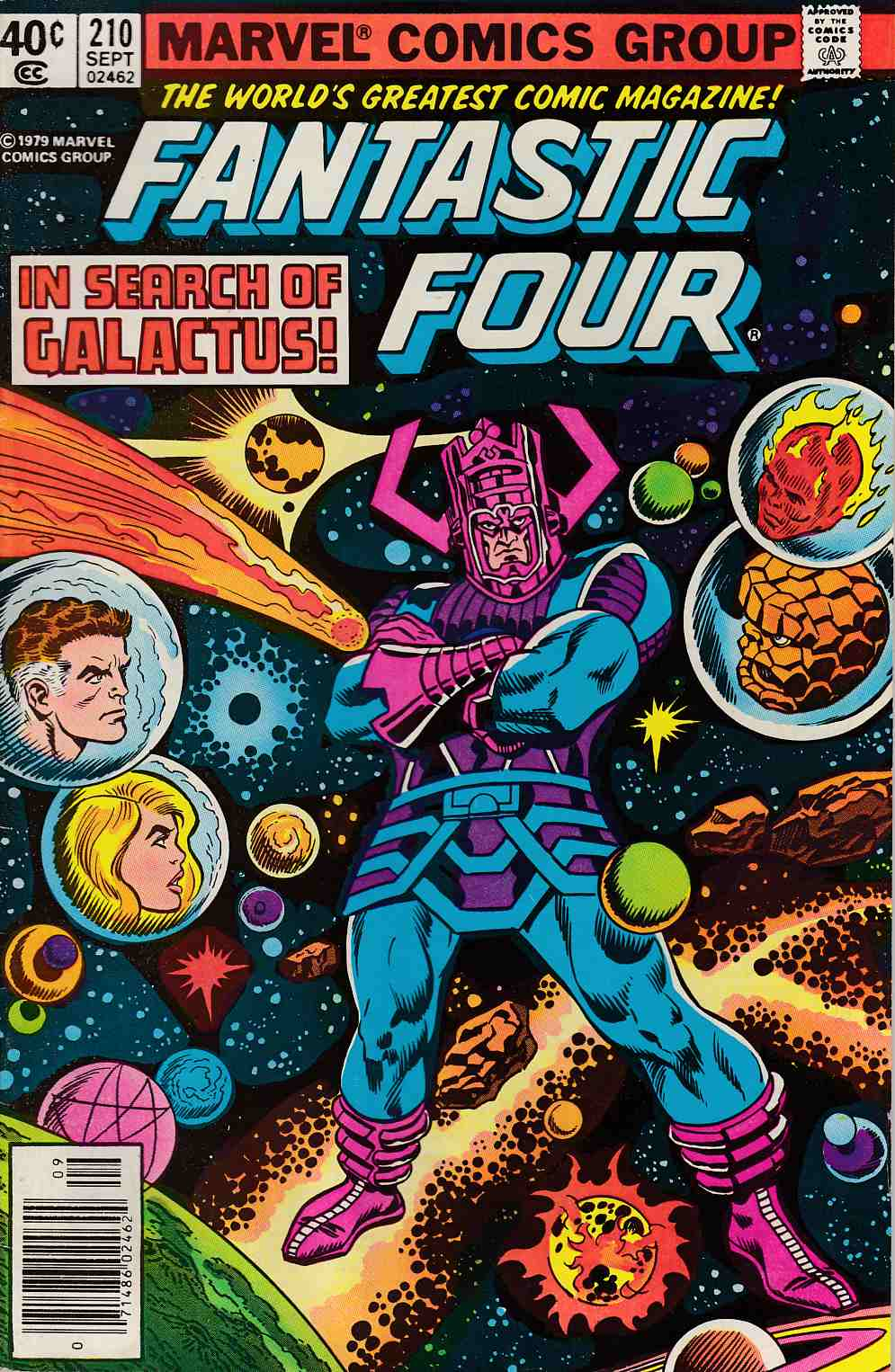 Fantastic Four #210 Newsstand Edition Very Good Minus (3.5) [Marvel Comic] LARGE