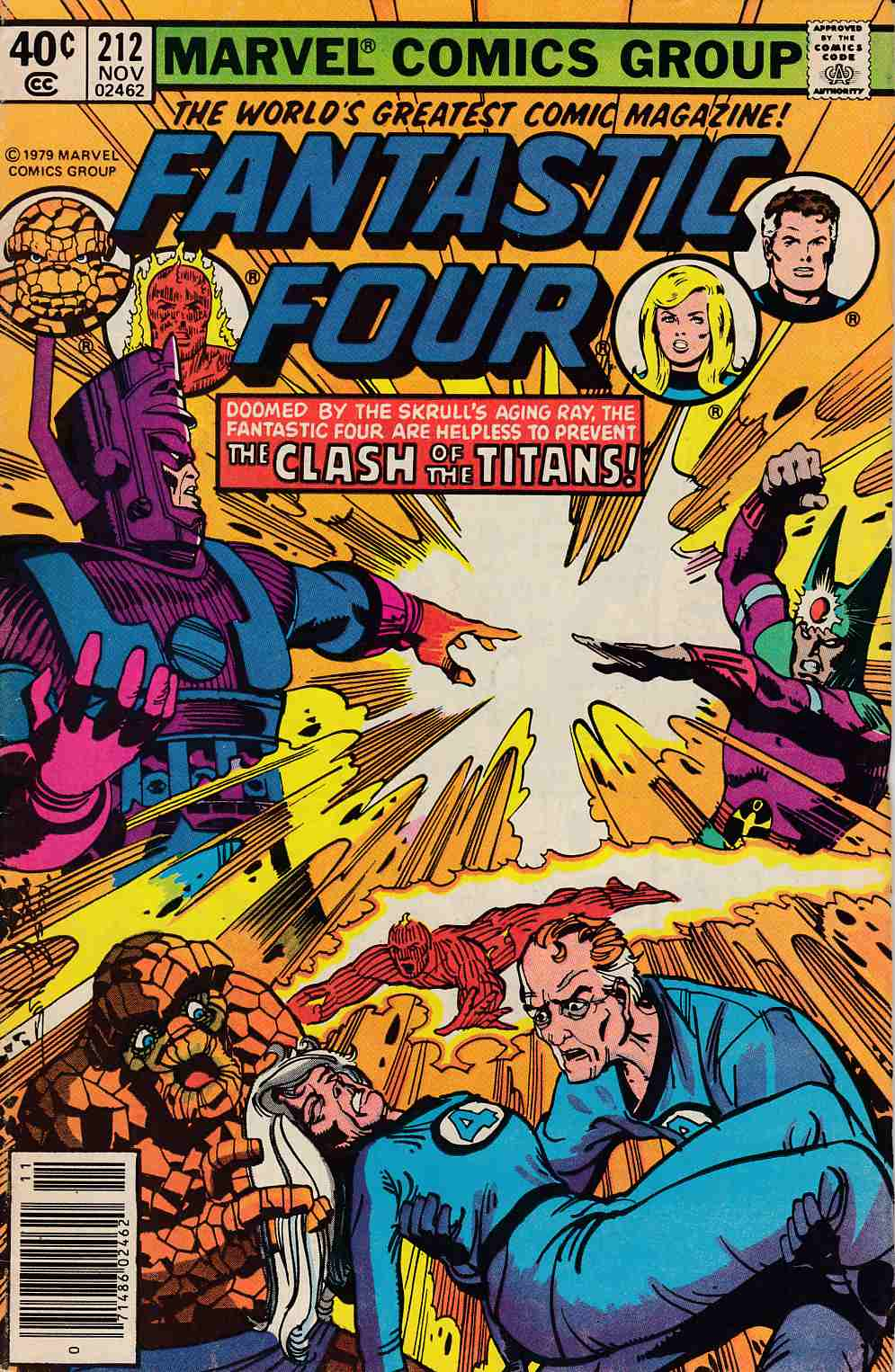 Fantastic Four #212 Newsstand Edition Fine (6.0) [Marvel Comic] LARGE