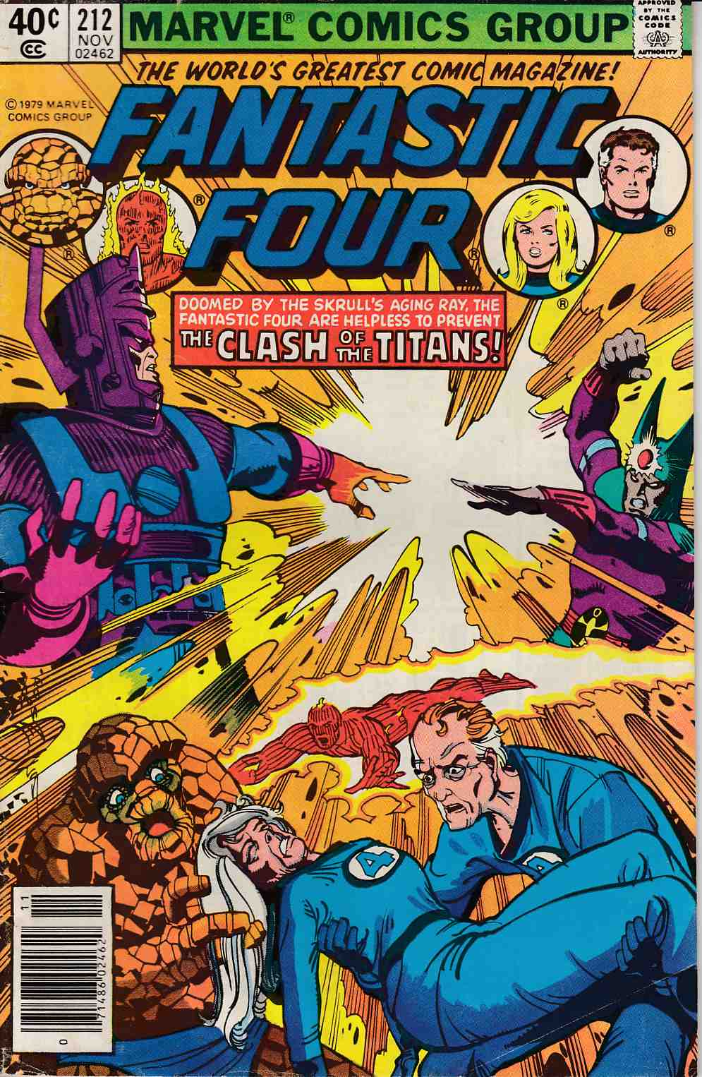 Fantastic Four #212 Newsstand Edition Very Good Minus (3.5) [Marvel Comic] LARGE