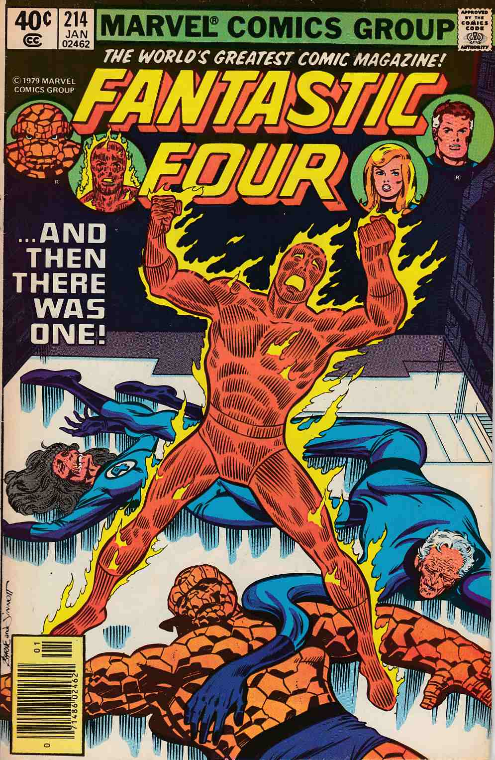 Fantastic Four #214 Newsstand Edition Fine (6.0) [Marvel Comic] LARGE