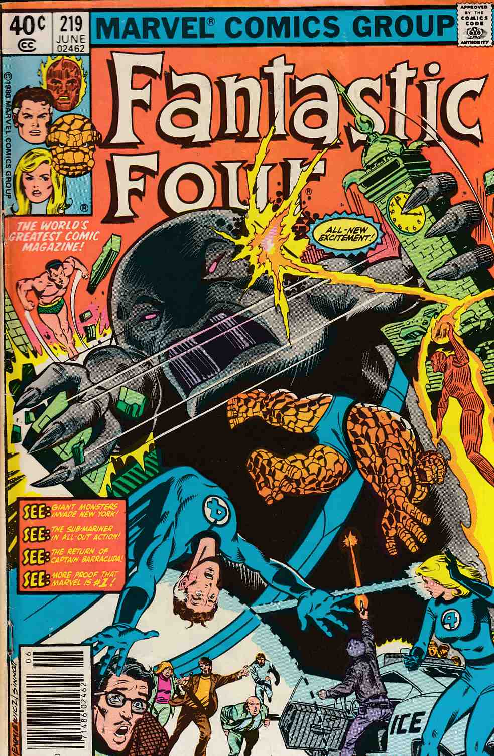 Fantastic Four #219 Newsstand Edition Good/Very Good (3.0) [Marvel Comic] LARGE