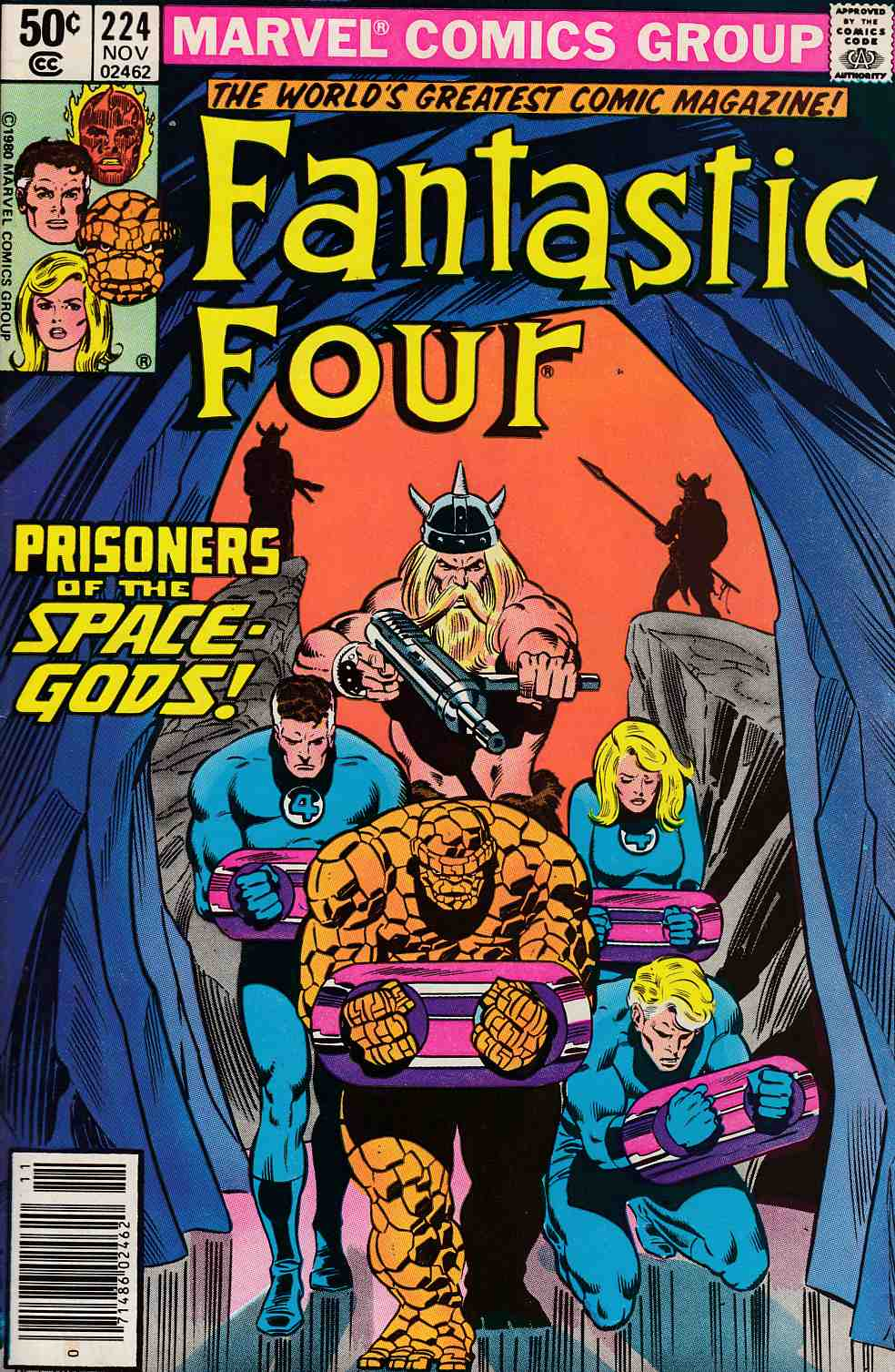 Fantastic Four #224 Newsstand Edition Very Fine Minus (7.5) [Marvel Comic] LARGE