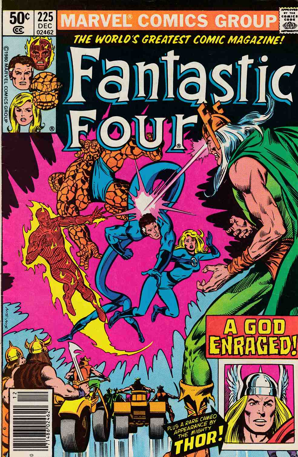 Fantastic Four #225 Newsstand Edition Fine (6.0) [Marvel Comic] LARGE