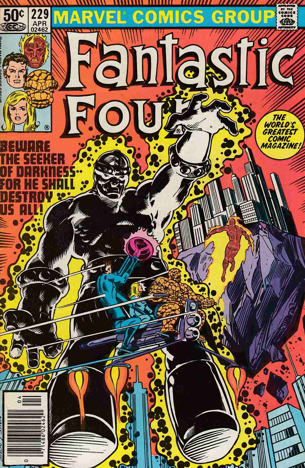 Fantastic Four #229 Newsstand Edition Fine Plus (6.5) [Marvel Comic] LARGE