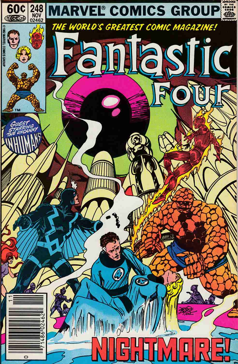 Fantastic Four #248 Newsstand Edition Very Fine Minus (7.5) [Marvel Comic] LARGE