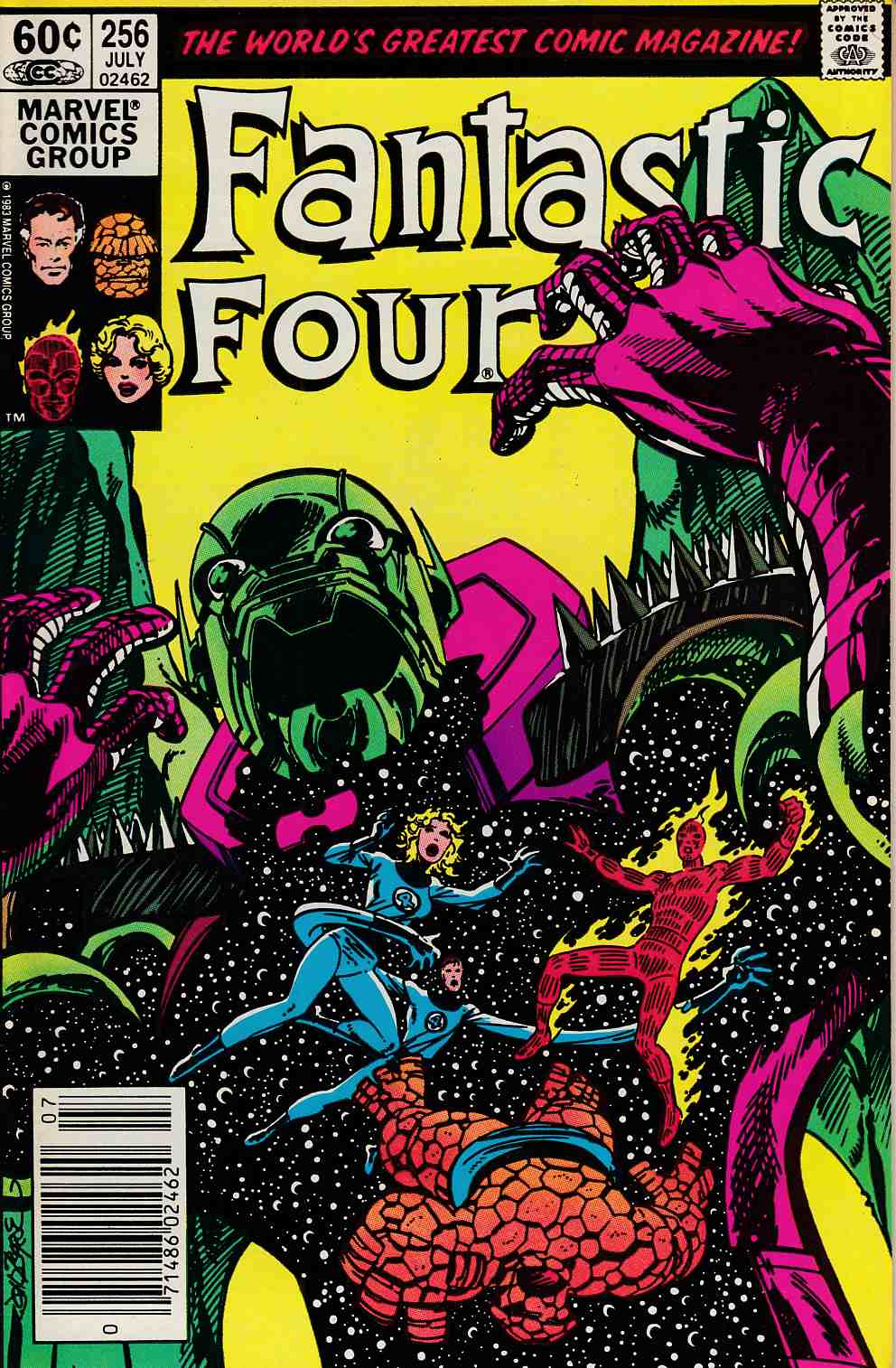 Fantastic Four #256 Newsstand Edition Very Fine (8.0) [Marvel Comic] LARGE