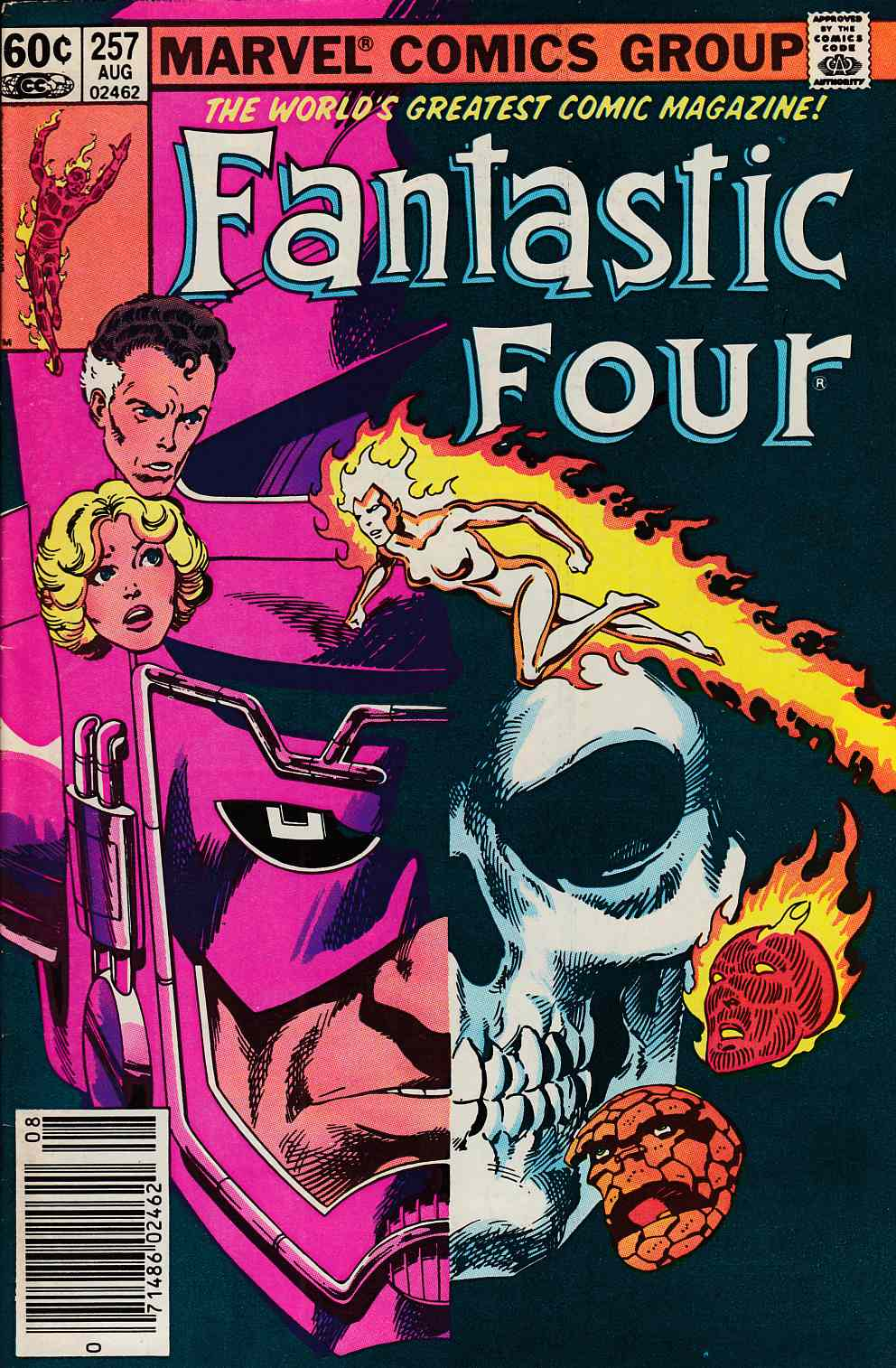 Fantastic Four #257 Newsstand Edition Very Fine Minus (7.5) [Marvel Comic] LARGE