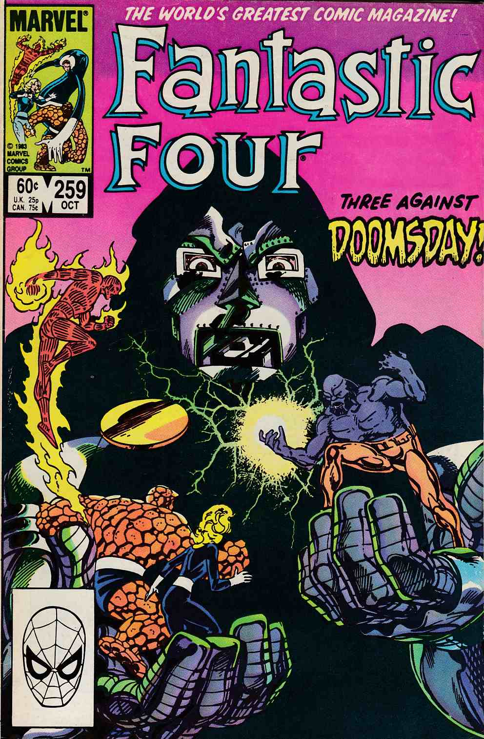 Fantastic Four #259 Newsstand Edition Fine (6.0) [Marvel Comic] LARGE