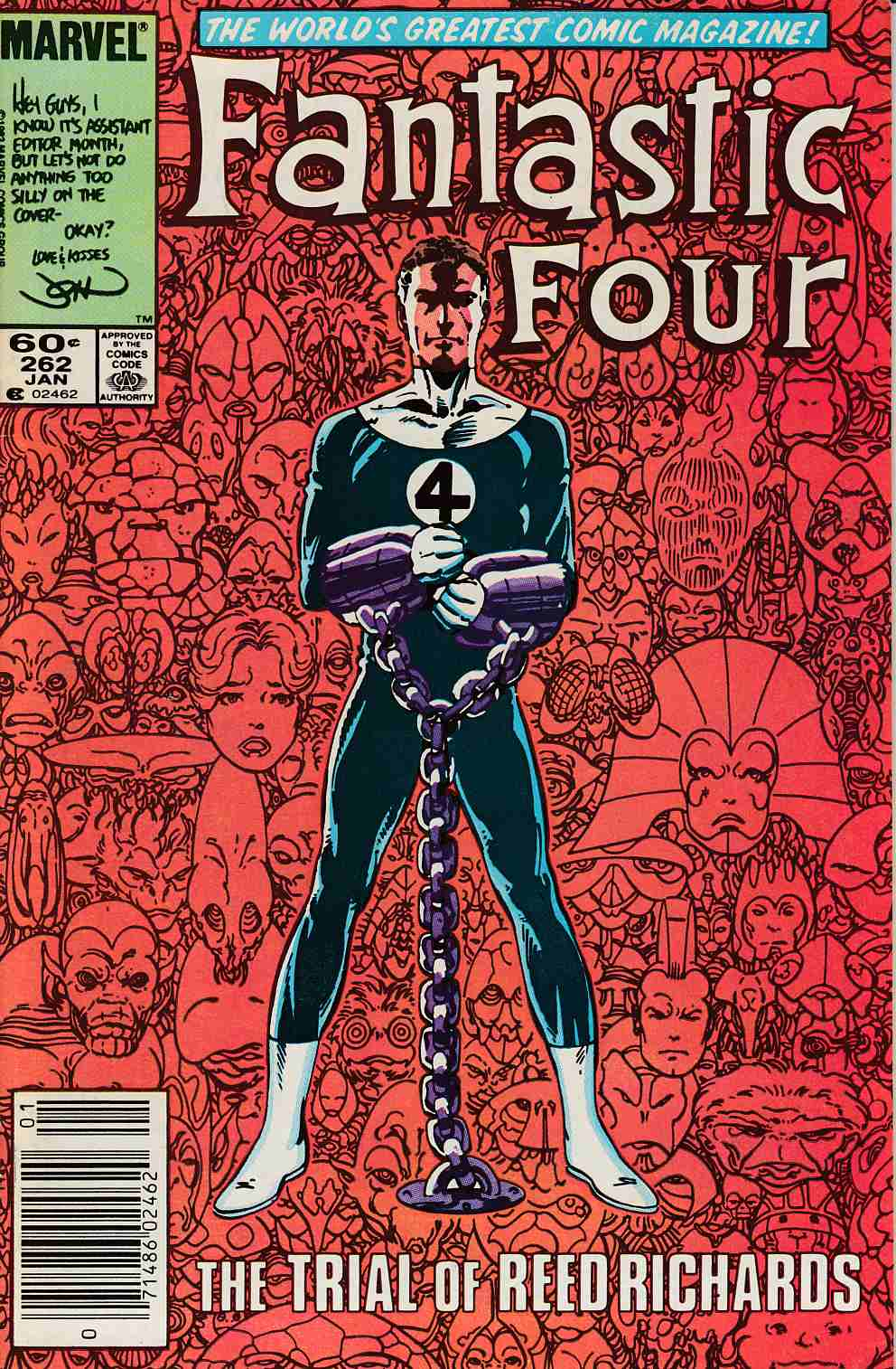 Fantastic Four #262 Newsstand Edition Very Fine Minus (7.5) [Marvel Comic] LARGE