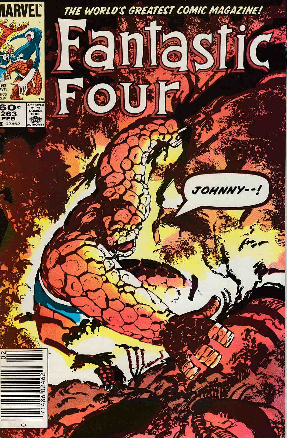Fantastic Four #263 Newsstand Edition Very Fine Minus (7.5) [Marvel Comic] LARGE