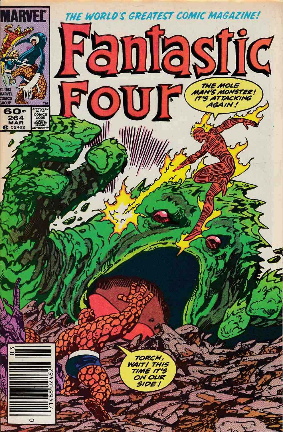 Fantastic Four #264 Newsstand Edition Very Fine Minus (7.5) [Marvel Comic] LARGE