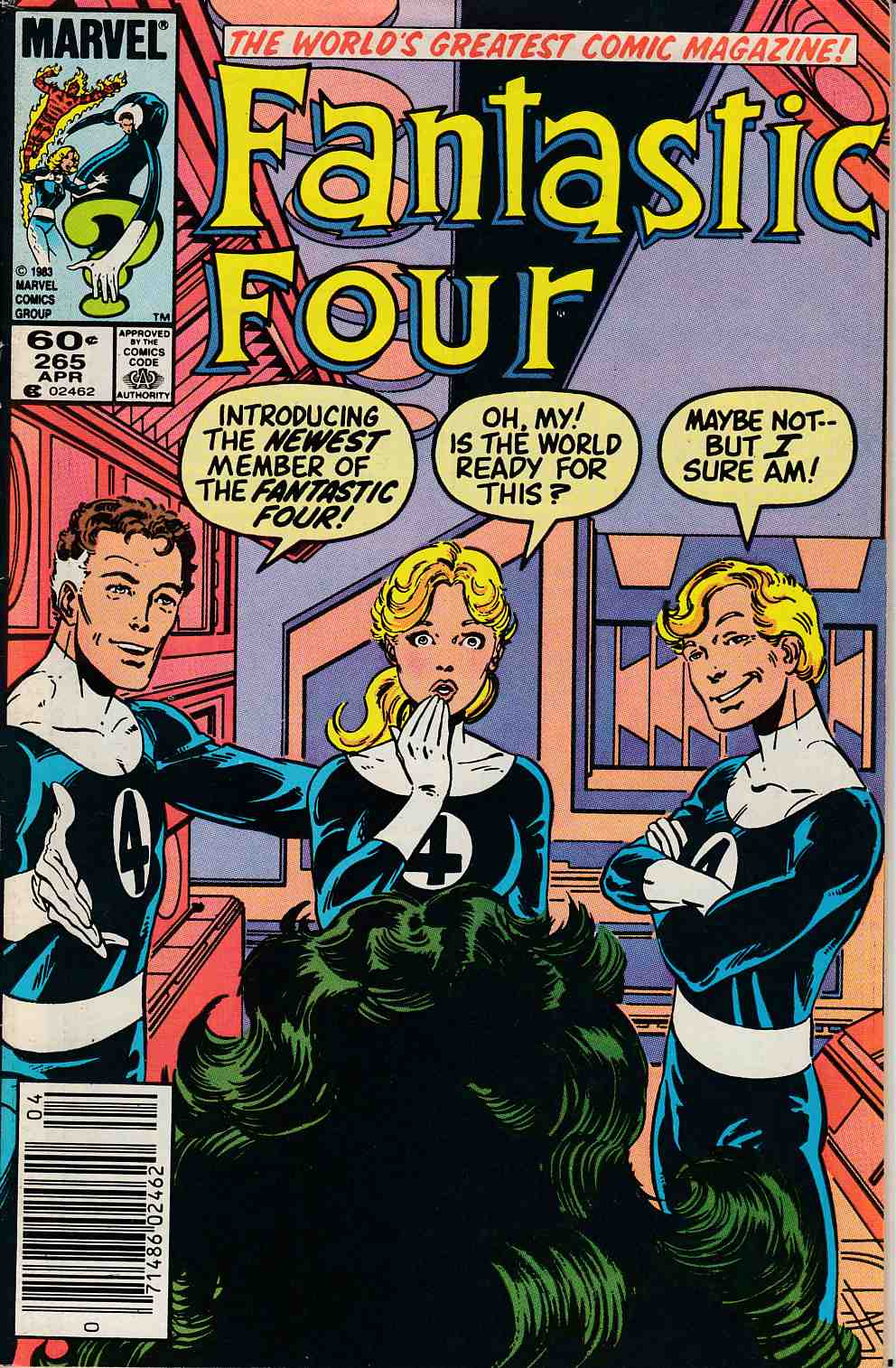 Fantastic Four #265 Newsstand Edition Very Fine (8.0) [Marvel Comic] LARGE