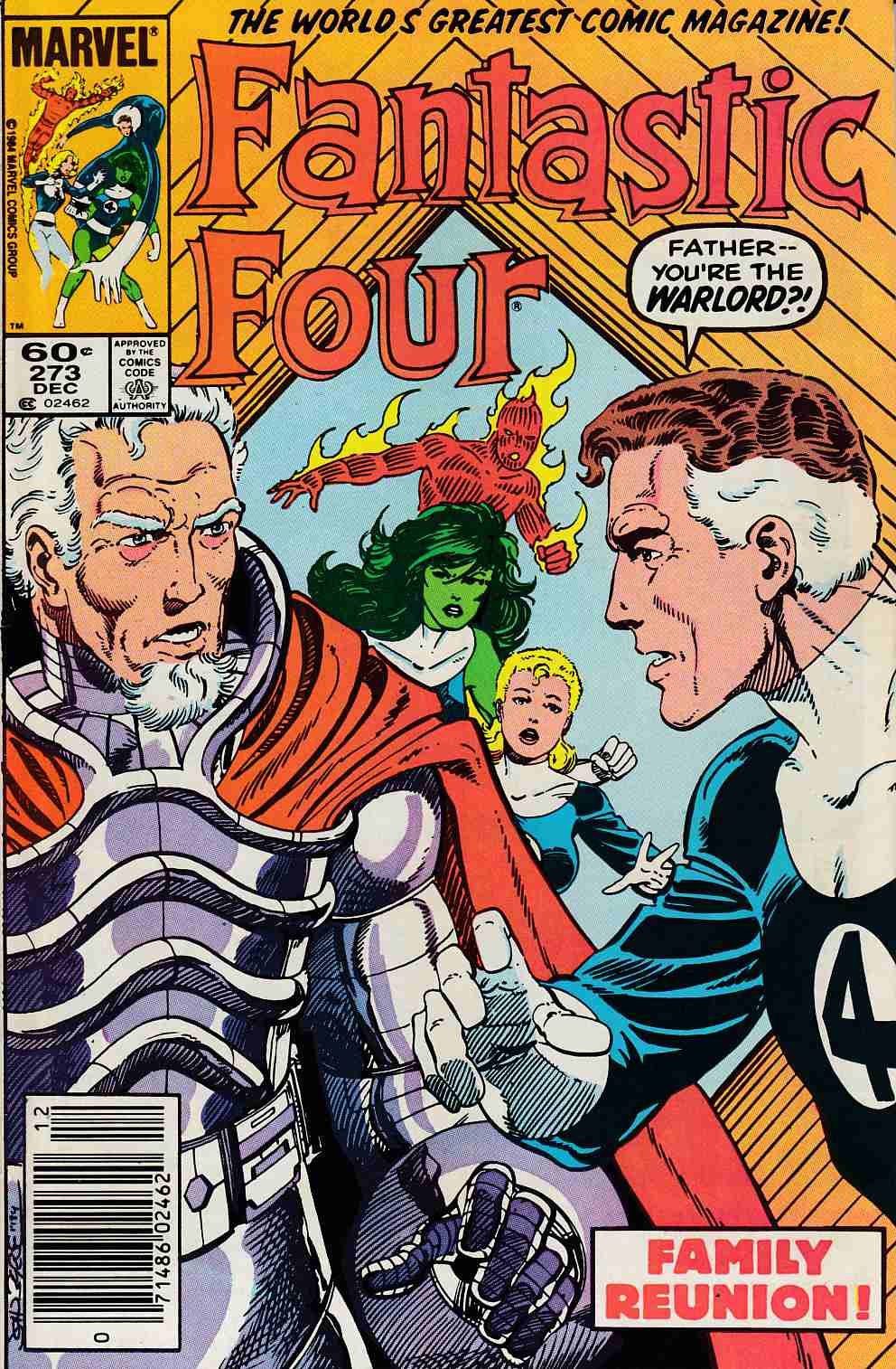 Fantastic Four #273 Newsstand Edition Very Fine/Near Mint (9.0) [Marvel Comic] LARGE