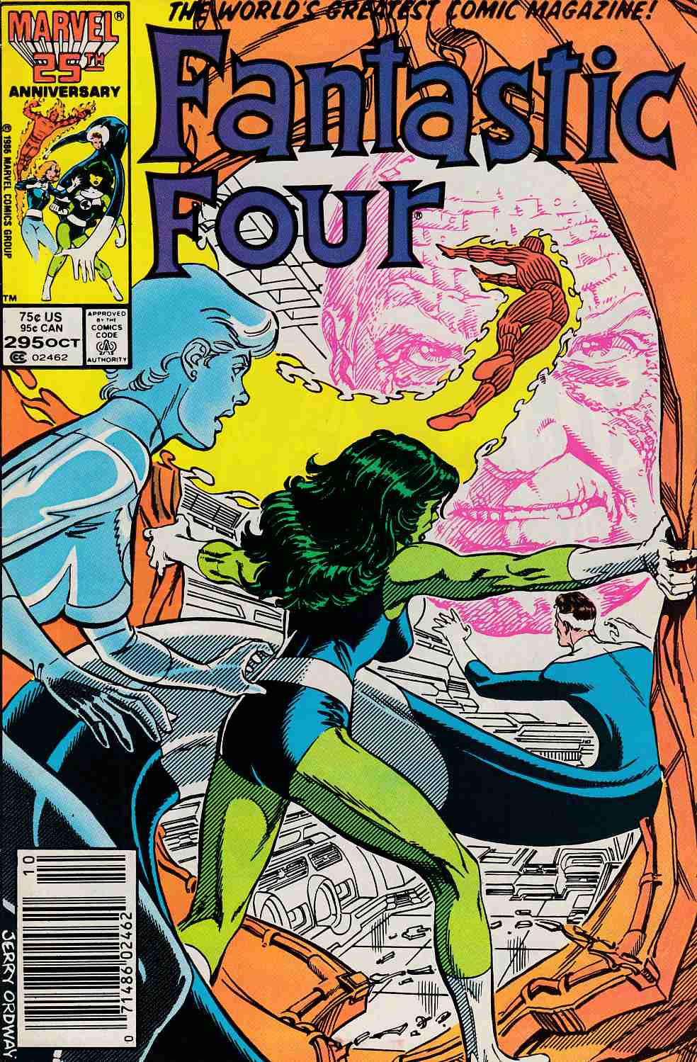 Fantastic Four #295 Newsstand Edition Very Fine (8.0) [Marvel Comic] LARGE