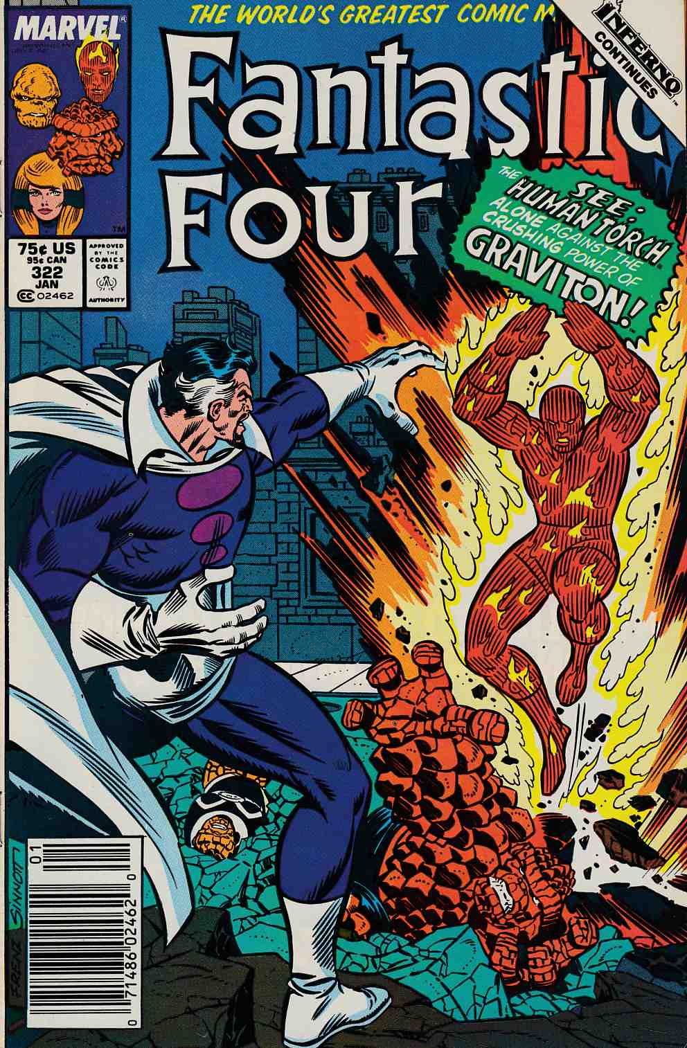Fantastic Four #322 Newsstand Edition Very Fine/Near Mint (9.0) [Marvel Comic] LARGE