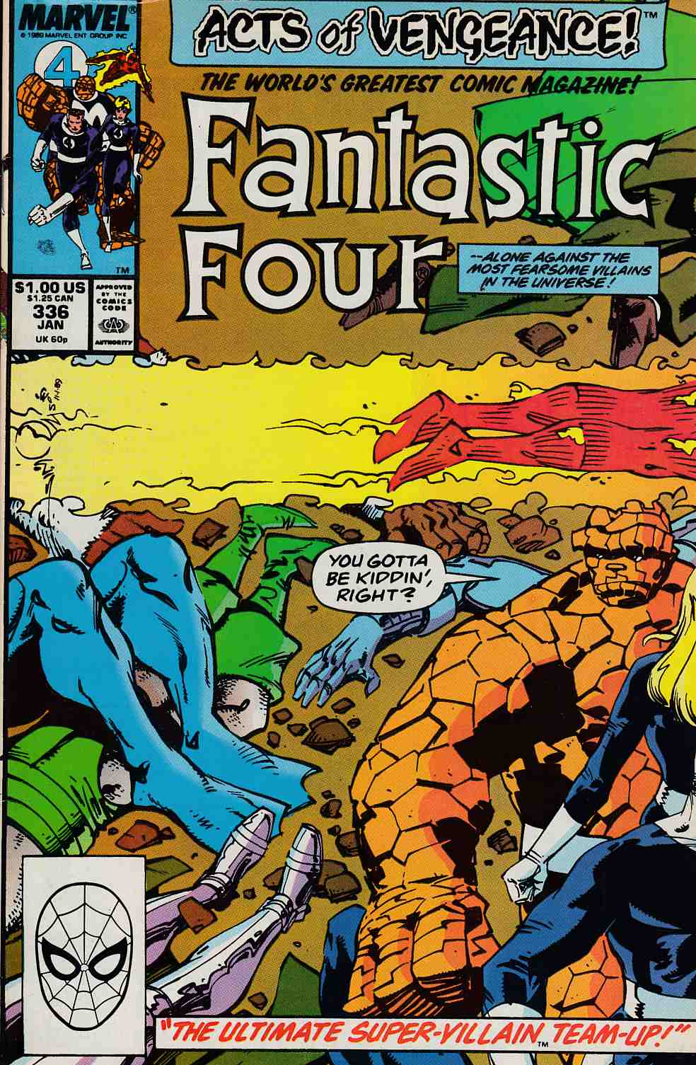 Fantastic Four #336 Very Fine (8.0) [Marvel Comic] LARGE