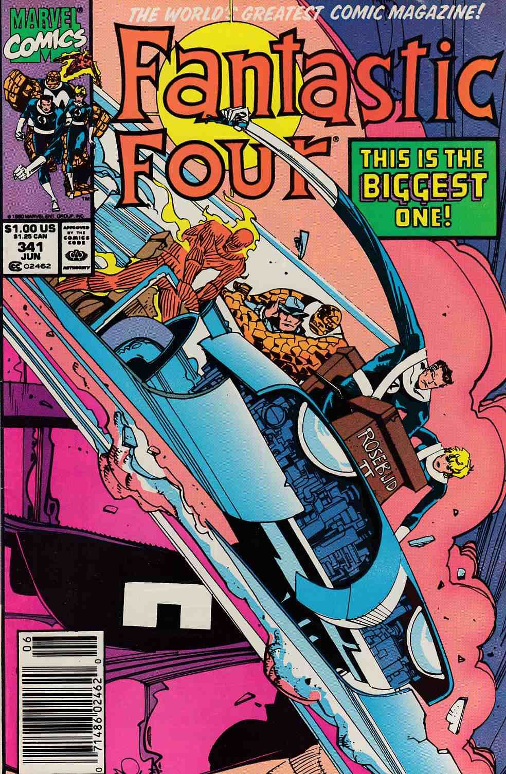 Fantastic Four #341 Newsstand Edition Fine (6.0) [Marvel Comic] LARGE